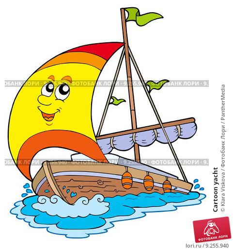 нарисовать лодку с парусом