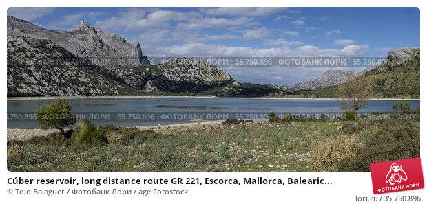 Cúber reservoir, long distance route GR 221, Escorca, Mallorca, Balearic... Стоковое фото, фотограф Tolo Balaguer / age Fotostock / Фотобанк Лори