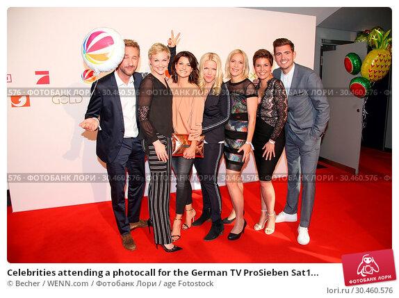 Celebrities attending a photocall for the German TV ProSieben Sat1... (2017 год). Редакционное фото, фотограф Becher / WENN.com / age Fotostock / Фотобанк Лори