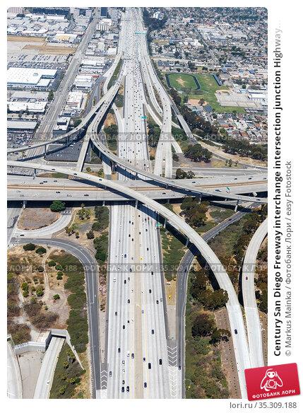 Century San Diego Freeway interchange intersection junction Highway... Стоковое фото, фотограф Markus Mainka / easy Fotostock / Фотобанк Лори
