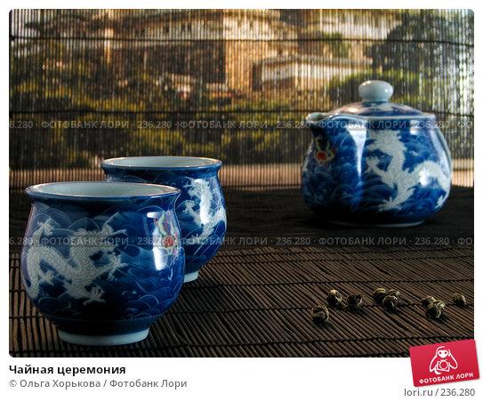 Купить «Чайная церемония», фото № 236280, снято 14 октября 2007 г. (c) Ольга Хорькова / Фотобанк Лори