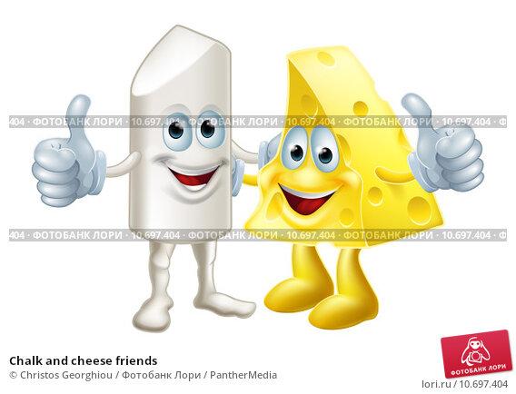 Купить «Chalk and cheese friends», иллюстрация № 10697404 (c) PantherMedia / Фотобанк Лори