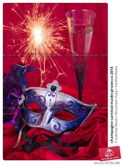 Купить «champagne carnival masks prosecco 2014», фото № 9732244, снято 19 июля 2019 г. (c) PantherMedia / Фотобанк Лори