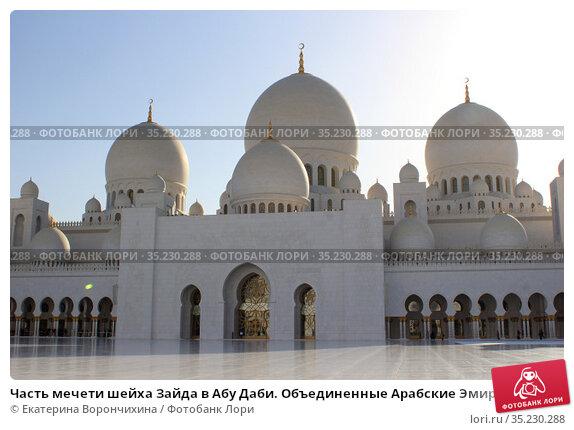 Часть мечети шейха Зайда в Абу Даби. Объединенные Арабские Эмираты. (2019 год). Стоковое фото, фотограф Екатерина Ворончихина / Фотобанк Лори