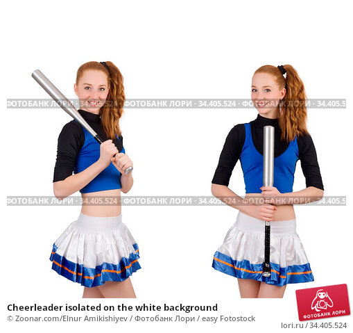 Cheerleader isolated on the white background. Стоковое фото, фотограф Zoonar.com/Elnur Amikishiyev / easy Fotostock / Фотобанк Лори