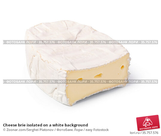 Cheese brie isolated on a white background. Стоковое фото, фотограф Zoonar.com/Serghei Platonov / easy Fotostock / Фотобанк Лори
