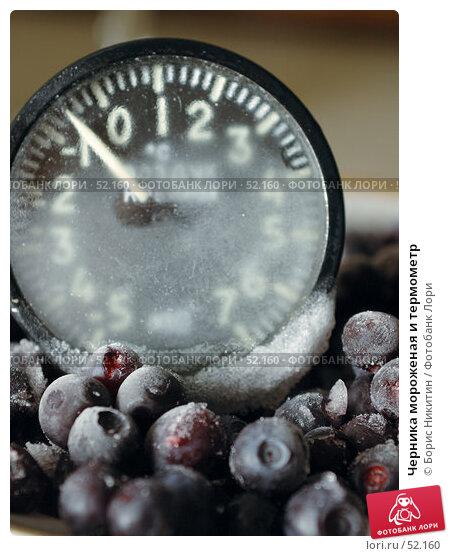 Черника мороженая и термометр, фото № 52160, снято 17 декабря 2006 г. (c) Борис Никитин / Фотобанк Лори