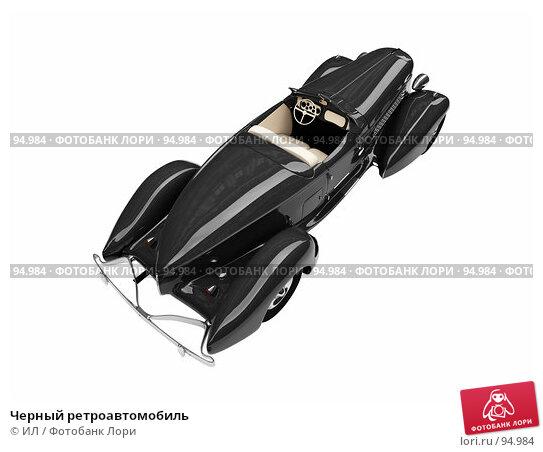 Черный ретроавтомобиль, иллюстрация № 94984 (c) ИЛ / Фотобанк Лори