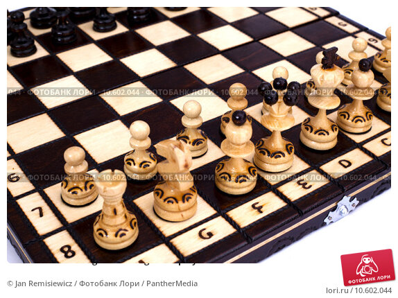Chess board with figures during chess play . Стоковое фото, фотограф Jan Remisiewicz / PantherMedia / Фотобанк Лори