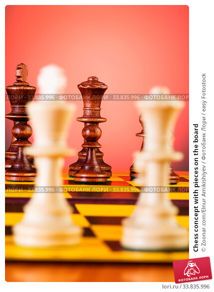 Купить «Chess concept with pieces on the board», фото № 33835996, снято 4 июня 2020 г. (c) easy Fotostock / Фотобанк Лори