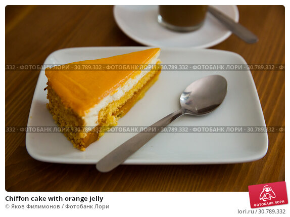 Купить «Chiffon cake with orange jelly», фото № 30789332, снято 19 июня 2019 г. (c) Яков Филимонов / Фотобанк Лори