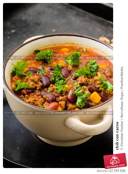 Купить «chili con carne», фото № 27797536, снято 20 октября 2018 г. (c) PantherMedia / Фотобанк Лори