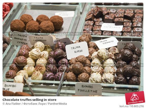 Chocolate truffes selling in store. Стоковое фото, фотограф Ana Flašker / PantherMedia / Фотобанк Лори