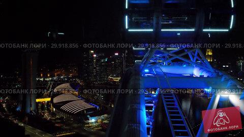 Купить «Cityscape view from Singapore Flyer», видеоролик № 29918856, снято 23 ноября 2018 г. (c) Игорь Жоров / Фотобанк Лори