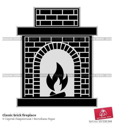 Купить «Classic brick fireplace», иллюстрация № 29538944 (c) Сергей Лаврентьев / Фотобанк Лори