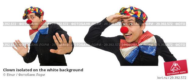 Купить «Clown isolated on the white background», фото № 29392572, снято 22 января 2015 г. (c) Elnur / Фотобанк Лори