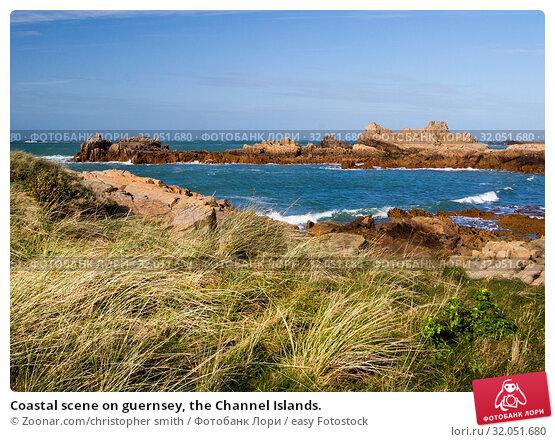 Coastal scene on guernsey, the Channel Islands. Стоковое фото, фотограф Zoonar.com/christopher smith / easy Fotostock / Фотобанк Лори