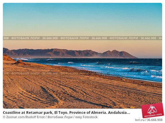Coastline at Retamar park, El Toyo. Province of Almeria. Andalusia... Стоковое фото, фотограф Zoonar.com/Rudolf Ernst / easy Fotostock / Фотобанк Лори