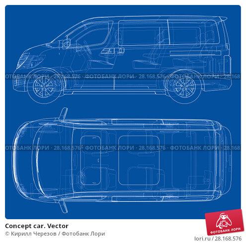 Купить «Concept car. Vector», иллюстрация № 28168576 (c) Кирилл Черезов / Фотобанк Лори