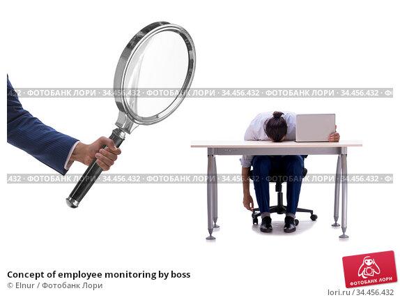 Concept of employee monitoring by boss. Стоковое фото, фотограф Elnur / Фотобанк Лори