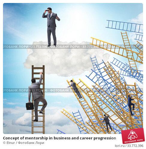 Купить «Concept of mentorship in business and career progression», фото № 33772396, снято 8 июля 2020 г. (c) Elnur / Фотобанк Лори