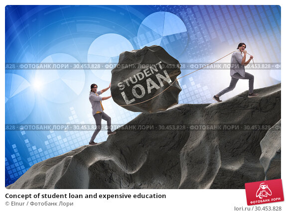 Concept of student loan and expensive education. Стоковое фото, фотограф Elnur / Фотобанк Лори
