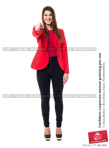 Купить «Confident corporate woman pointing you out», фото № 11362456, снято 5 апреля 2020 г. (c) PantherMedia / Фотобанк Лори