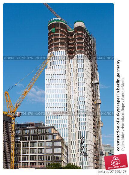 Купить «construction of a skyscraper in berlin,germany», фото № 27795176, снято 22 февраля 2018 г. (c) PantherMedia / Фотобанк Лори