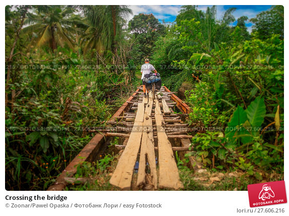 Купить «Crossing the bridge», фото № 27606216, снято 22 февраля 2019 г. (c) easy Fotostock / Фотобанк Лори