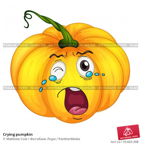 Crying pumpkin. Стоковая иллюстрация, иллюстратор Matthew Cole / PantherMedia / Фотобанк Лори