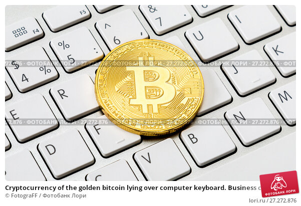 Купить «Cryptocurrency of the golden bitcoin lying over computer keyboard. Business concept of worldwide cryptocurrency», фото № 27272876, снято 5 ноября 2017 г. (c) FotograFF / Фотобанк Лори