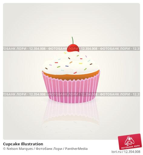 Купить «Cupcake Illustration», иллюстрация № 12354008 (c) PantherMedia / Фотобанк Лори