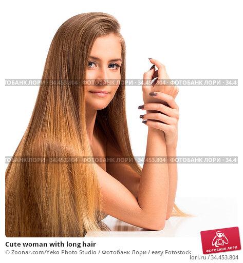 Cute woman with long hair. Стоковое фото, фотограф Zoonar.com/Yeko Photo Studio / easy Fotostock / Фотобанк Лори