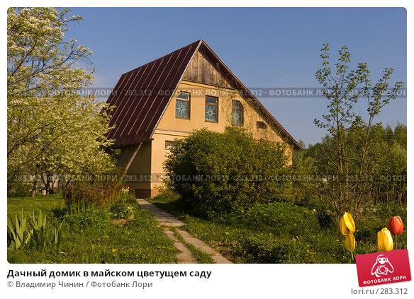 Дачный домик в майском цветущем саду, эксклюзивное фото № 283312, снято 11 мая 2008 г. (c) Владимир Чинин / Фотобанк Лори