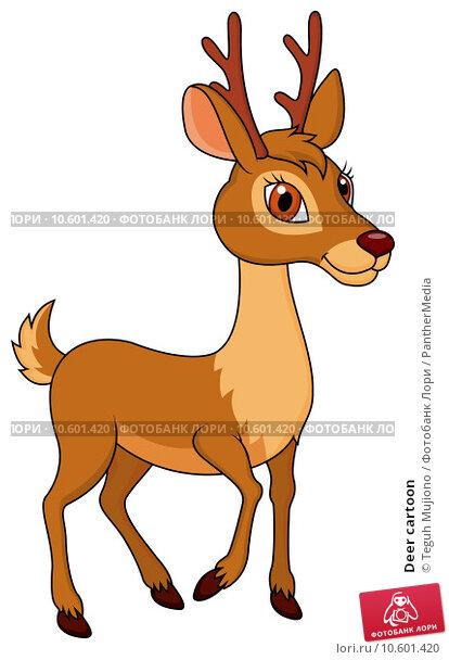 Deer cartoon. Стоковая иллюстрация, иллюстратор Teguh Mujiono / PantherMedia / Фотобанк Лори