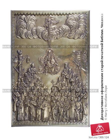 Декоративное оформление старой печатной Библии. Чеканка, фото № 300124, снято 23 апреля 2008 г. (c) Harry / Фотобанк Лори