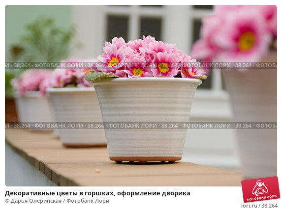 Декоративные цветы в горшках, оформление дворика, фото № 38264, снято 11 апреля 2007 г. (c) Дарья Олеринская / Фотобанк Лори