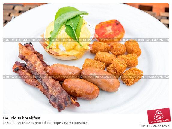 Delicious breakfast, фото № 26334976, снято 28 июля 2017 г. (c) easy Fotostock / Фотобанк Лори