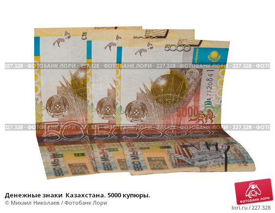 Денежные знаки  Казахстана. 5000 купюры., фото № 227328, снято 19 марта 2008 г. (c) Михаил Николаев / Фотобанк Лори