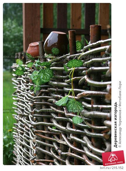 Деревенская изгородь, фото № 215152, снято 25 мая 2006 г. (c) Александр Черемнов / Фотобанк Лори