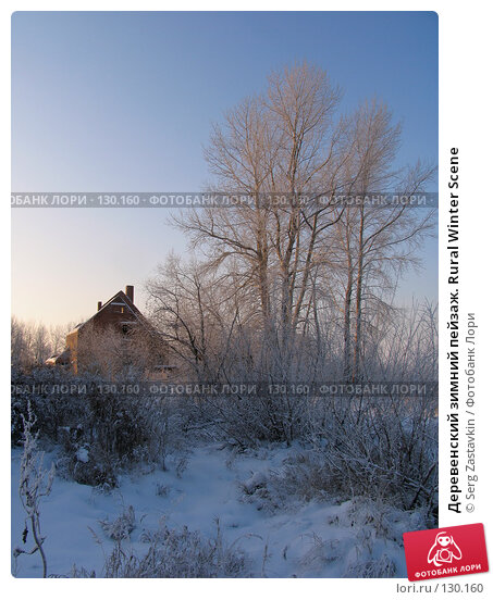 Деревенский зимний пейзаж. Rural Winter Scene, фото № 130160, снято 11 декабря 2005 г. (c) Serg Zastavkin / Фотобанк Лори
