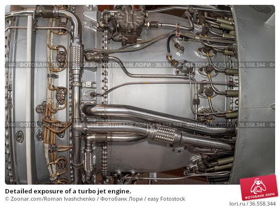Detailed exposure of a turbo jet engine. Стоковое фото, фотограф Zoonar.com/Roman Ivashchenko / easy Fotostock / Фотобанк Лори