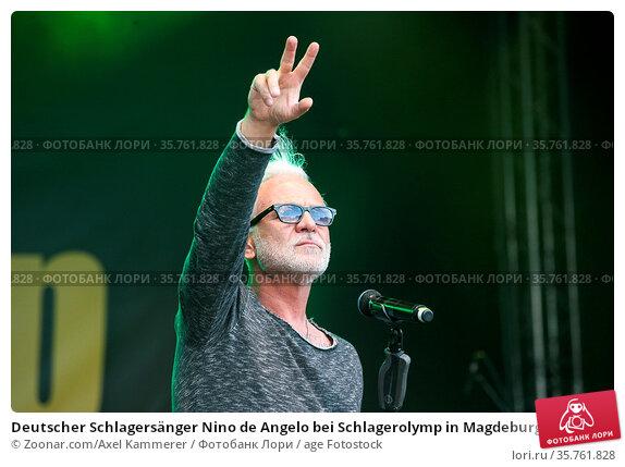 Deutscher Schlagersänger Nino de Angelo bei Schlagerolymp in Magdeburg... Стоковое фото, фотограф Zoonar.com/Axel Kammerer / age Fotostock / Фотобанк Лори