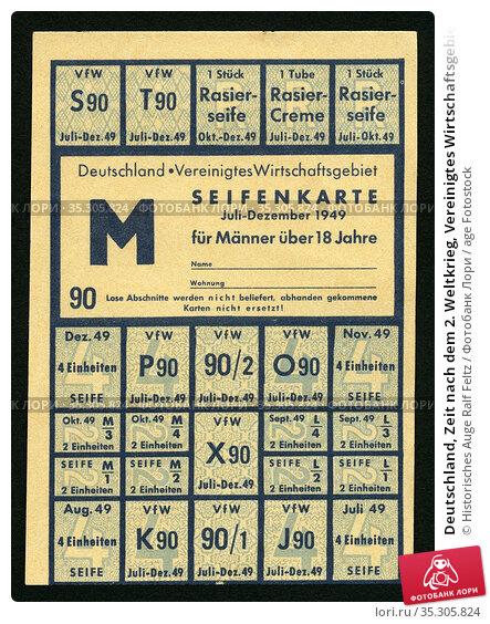 Deutschland, Zeit nach dem 2. Weltkrieg, Vereinigtes Wirtschaftsgebiet... Редакционное фото, фотограф Historisches Auge Ralf Feltz / age Fotostock / Фотобанк Лори