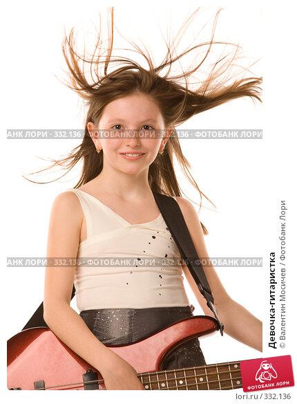 Девочка-гитаристка, фото № 332136, снято 2 мая 2008 г. (c) Валентин Мосичев / Фотобанк Лори