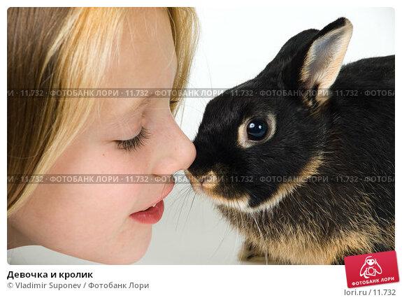 Девочка и кролик. Стоковое фото, фотограф Vladimir Suponev / Фотобанк Лори