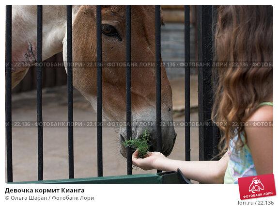 Девочка кормит Кианга, фото № 22136, снято 25 июля 2006 г. (c) Ольга Шаран / Фотобанк Лори