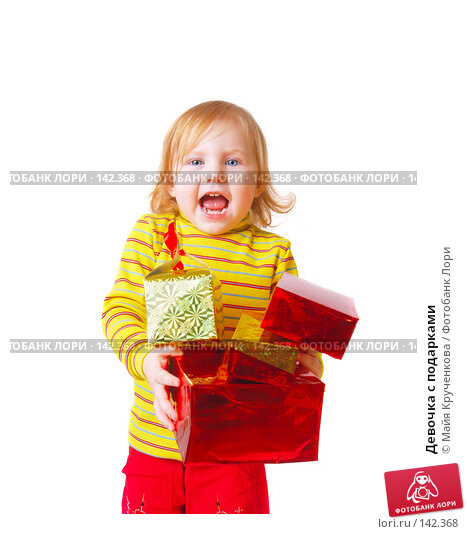 Девочка с подарками, фото № 142368, снято 19 ноября 2007 г. (c) Майя Крученкова / Фотобанк Лори
