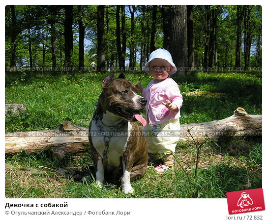 Девочка с собакой, фото № 72832, снято 20 мая 2007 г. (c) Огульчанский Александер / Фотобанк Лори