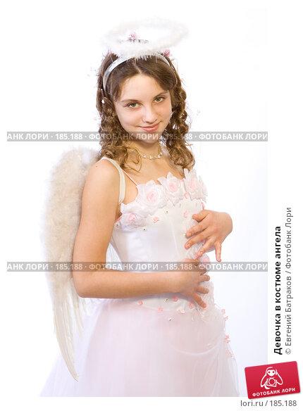 Девочка в костюме ангела, фото № 185188, снято 13 января 2008 г. (c) Евгений Батраков / Фотобанк Лори
